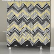 Chevron Print Shower Curtains by Chevron Gray Yellow Shower Curtain Yellow Shower Curtains Grey