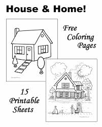 Best Ideas Of Printable Coloring Pages Houses About Summary Sample
