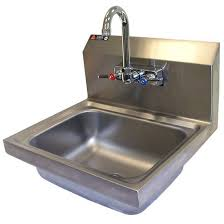 sinks stainless steel hand sink w faucet strainer by aero