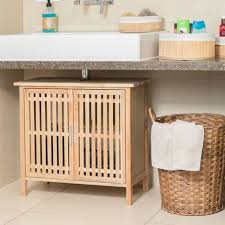 waschbeckenunterschrank stehend kleiner unterschrank aus walnuss badschrank mit siphon ausschnitt natur