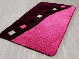 pacific badteppich rhodos purple rosa in 5 größen