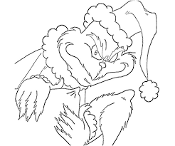 Grinch Stole Christmas Coloring Page Printable