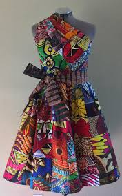 Reversible Patchwork One Shoulder Dress Rock Two Looks In 1 African Wax Print Multi Color Please Contact To Select A Reverse By WithFlare