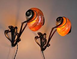 deco shell wall lights vintage nautilus light for sale at