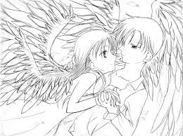 Anime Couple Coloring Pages Free