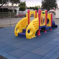 rubber cal eco safety interlocking playground tiles