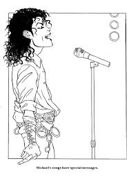 Michael Jackson Coloring Book Page