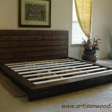 custom king rustic platform bed by artisan wood custommade com