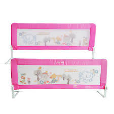 2pcs 150cm toddler safety bed rail kids bed guard swing down