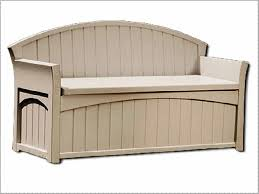 Suncast Outdoor Patio Furniture by Furniture Suncast Deck Box Ideas In White With Brown Top For