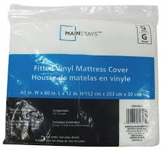 mainstays vinyl fitted mattress cover walmart canada