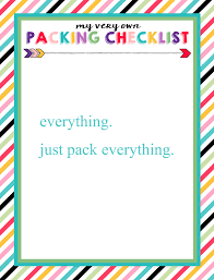 How To Use This Childrens Travel Packing List