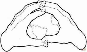 Earth In The Hands Coloring Page