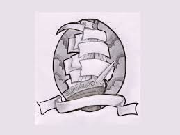Loose Lips Sink Ships Tattoo by Cool Pirate Ship With Ribbon Tattoo Design Cool Ship Tattoos