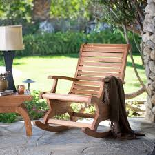 Belham Living Avondale Oversized Outdoor Rocking Chair Natural
