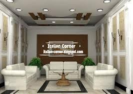 Living Room Gypsum Ceiling Design Italian False Suspended