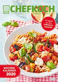 chefkoch wochenkalender 2020 küchen kalender mit 53