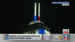 CNN Lights Up Empire State Building With Election Results VIDEO