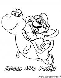Free Printable Mario And Yoshi Coloring Pages