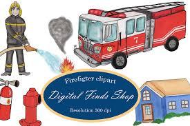 100 Clipart Fire Truck Fighter Clipart Fireman Clipart Fire Truck Clipart PNG