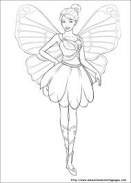 Barbie Mariposa 05 Coloring Pages Printable And Book To Print For Free Find More Online Kids Adults Of