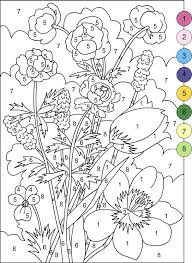 Downloads Online Coloring Page Color By Number Pages For Adults 80 In Kids With