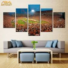 Artcozy 5 Panel Canvas Art Painting Spray Printings Baseball Wall Pictures Home Decoration Paint Waterproof Pipe