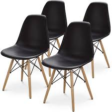 BUTII Set Of 4 Mid Century Modern Style Dining Chair Side Chairs With  Natural Wood Legs,Easy Assemble For Kitchen Dining Room,Living ... Sede Black Leather Walnut Ding Chair Chairs Accent For Fascating Bedroom Design Ideas Using White And Chair Remarkable Room 30 Rooms That Work Their Monochrome Magic Grey And Living 42 Best Glass Coffeemagazeliving Bedroom Table In 20 Small For Bedroom 6 Tips Mixing Wood Tones A Singapore Fiber Optics Contemporary With Black Us 19084 26 Off110cm Table Set Tempered Glass With 4pcs Room On Surprising Colour Fniture Sets King Wrought Iron Cast Metal Locker