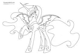 My Little Pony Coloring Pages Princess Celestia In A Dress Page