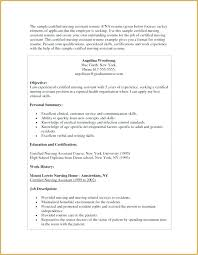 Sample Resume For Cna Awesome Stock Of Objectives Experienced