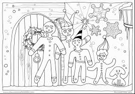 Spectacular Christmas Gingerbread Man Coloring Pages With Page And Blank