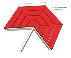 ana white build a hexagon picnic table free and easy diy