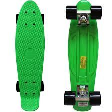 100 Wide Longboard Trucks New Complete 22 Long X 6 Skateboard Green Black Penny Style