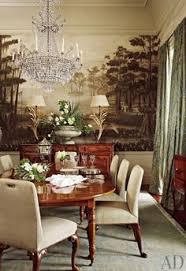 Georgian Dining Room by Federal Georgian Dining Room With Mural In Warm Orangey Hue U0026 A