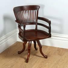 chair fabulous captains desk chair antique mahogany revolving