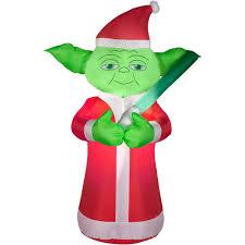 Walmart Halloween Blow Up Decorations by Airblown Inflatable 5 U0027 Yoda Christmas Prop Walmart Com