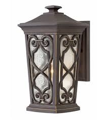 hinkley 2274oz led enzo led 15 inch rubbed bronze outdoor wall