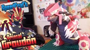 Pokemon Papercraft Primal Groudon