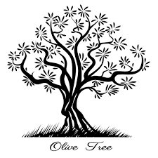 Olive tree silhouette by Microvector on Creative Market
