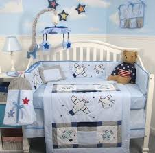 Airplane Crib Bedding for both Baby Boy and Girl