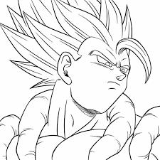 Gogeta Dragon Ball Z Super GT Desenhos Preto E