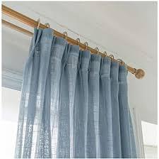cyhome 1er gardinen vorhänge transparent leinen optik mit kräuselband vorhang voile fensterschal dekoschal für wohnzimmer kinderzimmer schlafzimmer