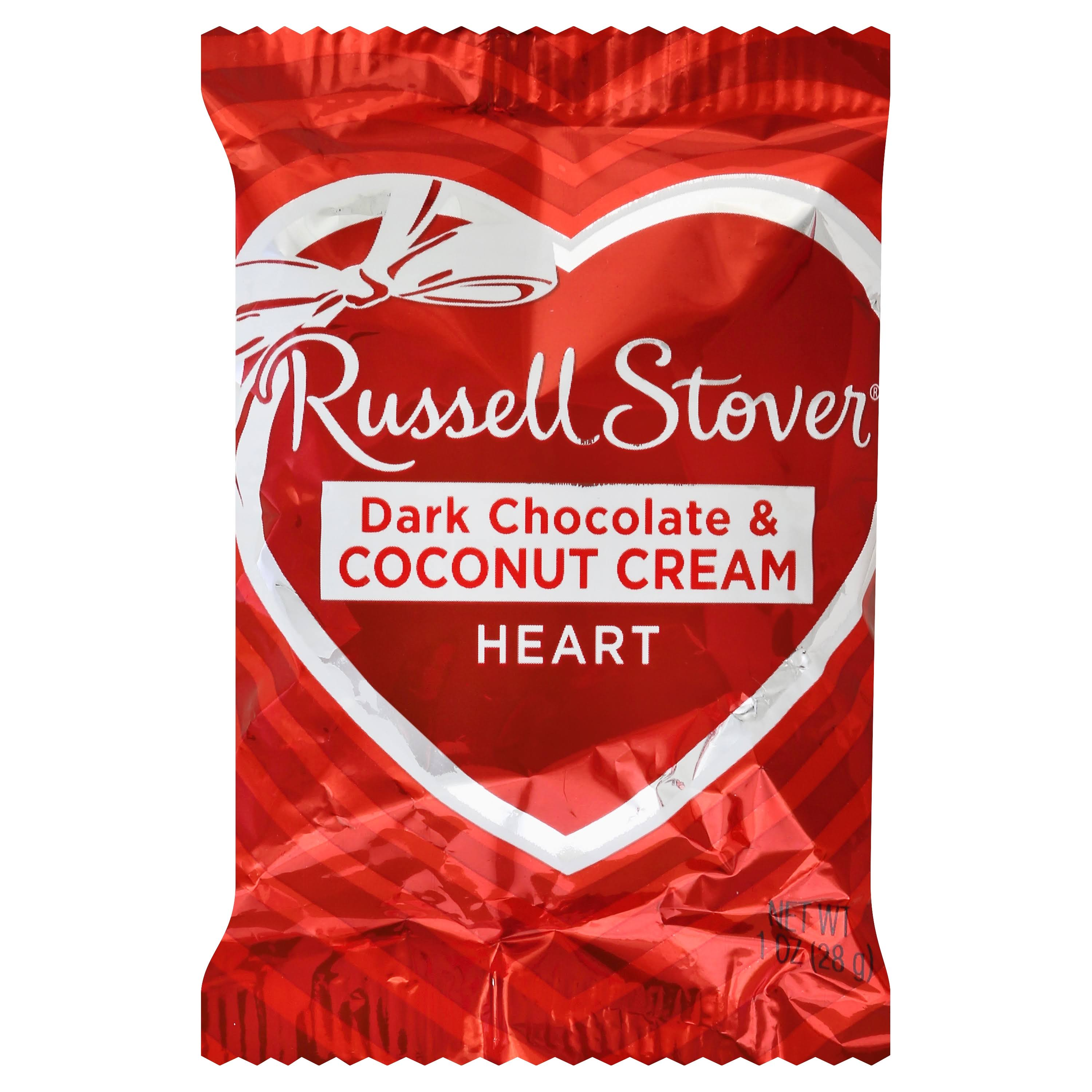 Russell Stover Coconut Cream Heart Dark Chocolate