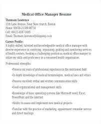 Management Skills On Resume Medical Office Manager Time Example