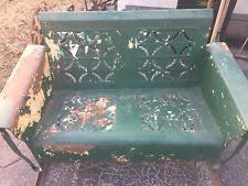 Veranda Metal Patio Loveseat Glider by Metal Glider Patio U0026 Garden Furniture Ebay