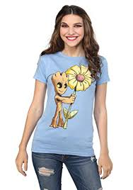 Marvel Guardians Of The Galaxy Vol 2 Baby Groot Flower Juniors T Shirt Small