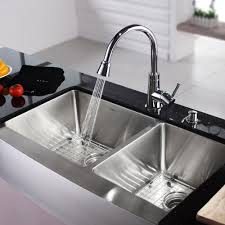 Eljer Stainless Steel Sinks by Brushed Nickel Kitchen Sink Faucet With Pull Down Sprayer