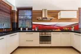 küchenrückwand spritzschutz küche gehärtetes glas abstrakt
