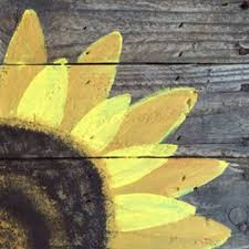 Wood Pallet Sign Hand Painted Sunflower Art