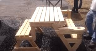 Collapsible Wooden Picnic Table Plans by This Folding Picnic Table Is The Next Great Thing For That